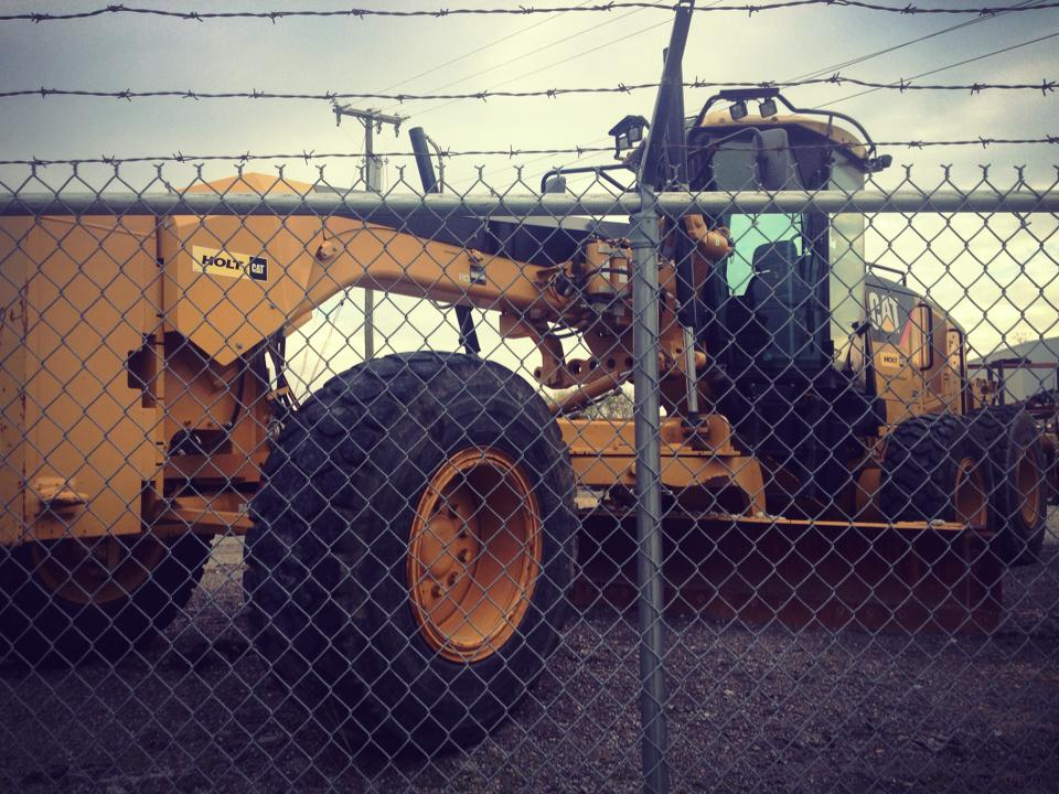 Heavy Equipment along Davidson Ave and the East Bank Bike Route.